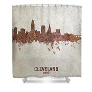 Cleveland Ohio Rust Skyline Shower Curtain