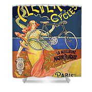 Clever Cycles Shower Curtain