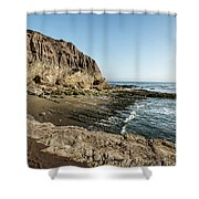 Cliff In The Ocean Shower Curtain