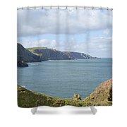 cliffs and coast at St. Abbs Head, Berwickshire Shower Curtain