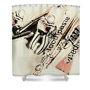 Clinical Tooth Care Shower Curtain