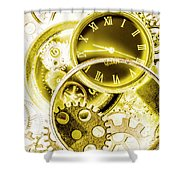 Clock Watches Shower Curtain