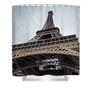 Close Up View Of The Eiffel Tower From Underneath  Shower Curtain
