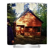 Closing The Cabin For Winter Shower Curtain