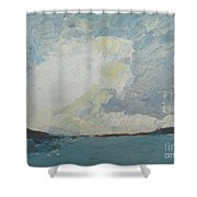 Cloud Above The Sea Shower Curtain