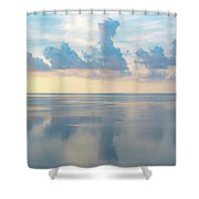 Cloud Reflections On Pamlico Sound Shower Curtain