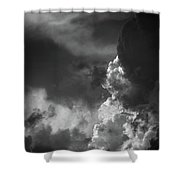 Clouds 6 In Black And White Shower Curtain