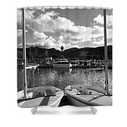 Clouds And Sailing  Shower Curtain