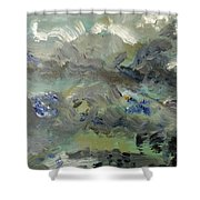 Clouds Before Rain In Summer Shower Curtain