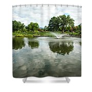 Clouds On Ashley Pond Shower Curtain
