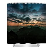 Clouds Over Mountains Shower Curtain