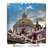 Clouds Over Puebla Cathedral Shower Curtain