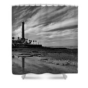 Clouds Over The Chipiona Faro Shower Curtain