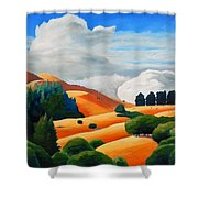 Clouds Over Windy Hill Shower Curtain