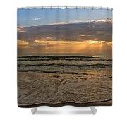 Cloudy Sunrise In The Mediterranean Shower Curtain