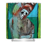 Clown At A Table Shower Curtain