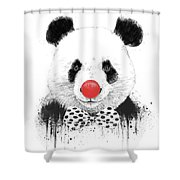 Clown Panda Shower Curtain