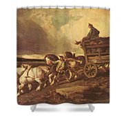 Coal Cars 1822 Shower Curtain