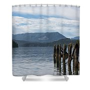 Coal Harbour Shower Curtain by Randy Hall