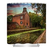 Coalport Bottle Kiln Sunset Shower Curtain