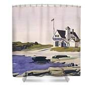 Coast Guard Station  Two Lights  Maine  Shower Curtain