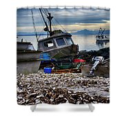 Coastal Fishing Vancouver Island Shower Curtain