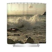 Coastal Saturday Morning Shower Curtain