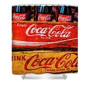 Coca Cola Crates Shower Curtain