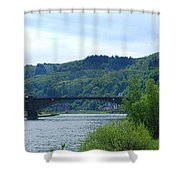 Cochem Castle And River Mosel In Germany Shower Curtain