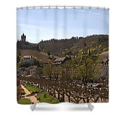 Cochem Castle And Town On Mosel In Germany Shower Curtain