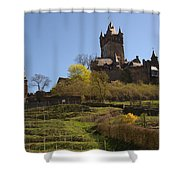 Cochem Castle And Vineyard In Germany Shower Curtain