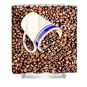 Coffee Tips Shower Curtain