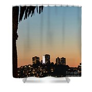 Coit Tower Twilight Shower Curtain