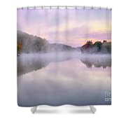 Cold Autumn Morning By A Lake Shower Curtain