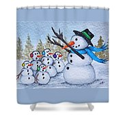 Cold Choir Shower Curtain