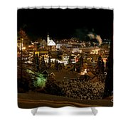 Cold Winter Night Shower Curtain