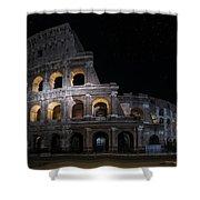 Coliseum At Night Shower Curtain by Jaroslaw Blaminsky