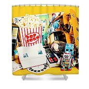 Collectible Corner Shower Curtain