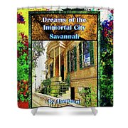 Collectible Dreaming Savannah Book Poster Shower Curtain
