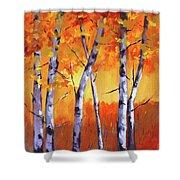Color Forest Landscape Shower Curtain