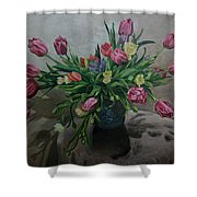 Color Of Natureoil Shower Curtain
