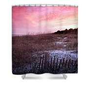 Color Over The Dunes Shower Curtain