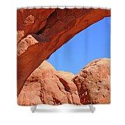 Colorado Arches, Close Up Blue Sky 3440 Shower Curtain