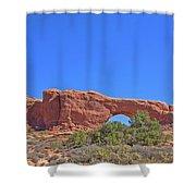 Colorado Arches Rock, Scrub Blue Sky 3397 Shower Curtain
