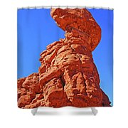 Colorado Arches Spire Scrub Dinosaur Rock? Scrub Blue Sky 3325 Shower Curtain