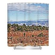Colorado Blue Sky Red Rocks Clouds Trees 2 10212018 2857 Colorado  Shower Curtain