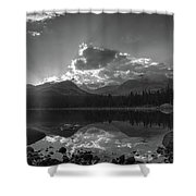 Colorado Mountain Lake In Black And White Shower Curtain
