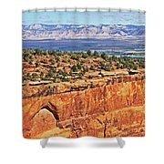 Colorado National Monument Trees Rock Formations 3087 Shower Curtain
