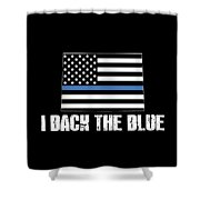 Colorado Police Appreciation Thin Blue Line I Back The Blue 2 Shower Curtain