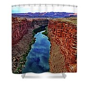 Colorado River From The Navajo Bridge 001 Shower Curtain
